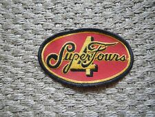 Super Four Embroidered Sew On Patch Rod Rider Racers Jacket Decal Car Jacket Old