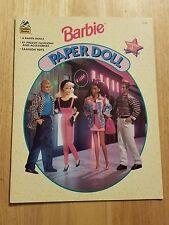Vintage 1994 Barbie Paper Doll Book Includes 4 Paperdolls Uncut Golden Books