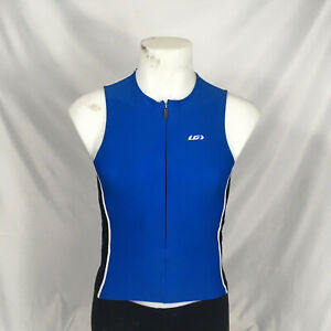 Medium Louis Garneau Blue Mistral Sleeveless Cycling Jersey