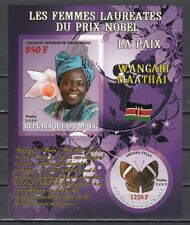 Mali, 2009 issue. W. Maathai, Nobel Prize Winner. Orchid & Butterfly. IMPERF
