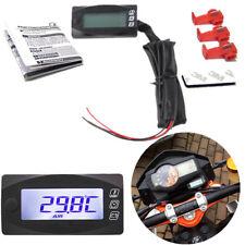 3 IN 1 Motorcycle Multi-Function Digital Meter Thermometer & Voltmeter & Clock