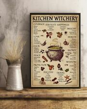 Kitchen Witchery Magic Knowledge Halloween Gift Retro Vintage Home Decor Poster