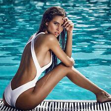Ladies Sexy Swimming Costume Bikini One-piece Padded Push-up Monokini Swimwear