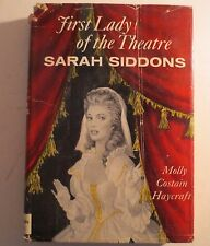 First Lady Of The Theatre Sarah Siddons Molly Costain Haycraft 1958