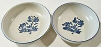"Pfaltzgraff Yorktowne TWO Round 8-1/2"" Round Vegetable Serving Bowls Stoneware"