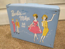 """Vintage barbie and midge doll case 1963 17.5"""" long 14"""" wide and 4"""" deep"""