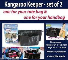 Kangaroo Keeper Bag Organizer Set of 2 Black
