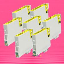 7P NON-OEM YELLOW INK alternative for EPSON T044420 T0444 Stylus CX6400 CX6600