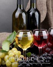 Wine Tasting Motivational Poster Wine Rack Glasses Corks Cooler Barrel MVP277