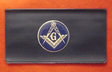 MASON MASONIC FREEMASON  CHECKBOOK COVER FOLDER HOLDER WALLET