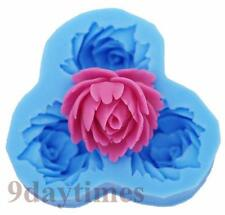 Rose Flower Silicone Mold Mould For Polymer Clay Fimo Craft Resin 30mm A258