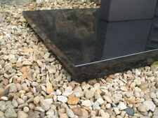 "New Absolute Black Granite Hearth 60"" x 15"" for Gas/Electric fireplace"
