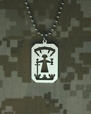 GI JEWELRY, Official US MILITARY, SAINT BARBARA Pendant Beaded Chain NonReactive