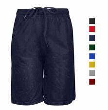 Boys Adjustable Breathable School Uniform Full Mesh U-R-DRY DRI-FIT Gym Shorts