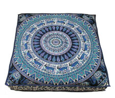 "35"" Large Square Floor Pillow Cover Hippie Ottoman Pouf Daybed Cotton Mandala"