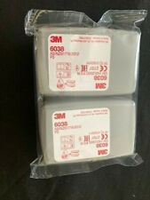 5 PAIRS GENUINE 3M 6038 Particulate Filters P3 R SEALED PACKS BRAND NEW EXP 2023