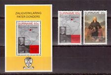 SURINAME 1982 SET MINT H # 598/99a, BEATIFICATION OF FATHER PETRUS DONDERS !!