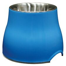 Dogit 2 in 1 Elevated Dog Dish 900ml Large Raised Feeding Bowl/water Bowl Blue