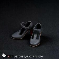 """ASTOYS AS010 1/6 Scale Female Leather Shoes High Heels For 12"""" Doll Figure"""