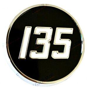 METAL SIDE BADGE FOR MASSEY FERGUSON 135 TRACTORS. HIGH QUALITY.