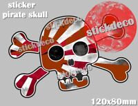 PIRATE SKULL JDM JAPAN HONDA STICKER   AUTO - MOTO GARAGE AUTOCOLLANT 12CM