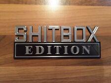 Shitbox Edition Vehicle Car Badge Emblem Logo Trunk Tailgate Door Wing Motif