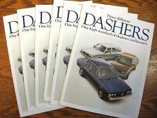 1978 VW Volkswagen Dasher Dealer Sales Brochure LOT (6) pcs, MINT