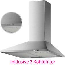 60cm Edelstahl Dunstabzugshaube Kamin Haube Wand Esse + 2 Kohlefilter Ab-/Umluft