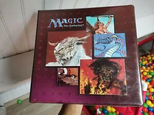 Classeur Magic the Gathering de 1996 +  feuilles et divers portfolios Pokémon