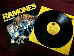 RAMONES VINYL road to ruin LP EARLY WINCHESTER REPRESS i wanna be sedated NO BAR