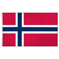 3x5 Norway Norweigan 200D nylon Flag 3x5 House Banner with Clips