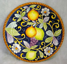 "MINT New TABLETOPS UNLIMITED Ceramica Classica VILLA BELLAGIO Dinner 11"" Plate"