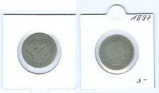 USA  Quarter Dollar Barber 1897  fast schön