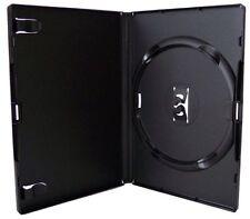 50 x Genuine Amaray DVD SINGOLO NERO caso 14 mm spina dorsale-Confezione da 50