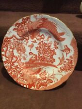 Royal Crown Derby Red Eaves Large Plate