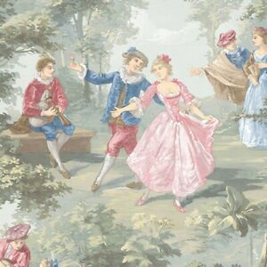 Musicians & Dancing Couples Wallpaper GC29834 Victorian toile washable prepasted