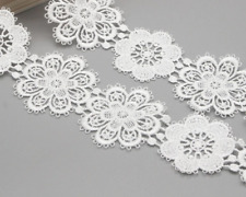 Flower Lace White Embroidery Trim Ribbon Sewing Garment Decoration Accessories