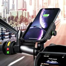 """Motorcycle Phone Wireless Charger Holder Mount For 3.5-6.5"""" Mobile Phone Stand"""