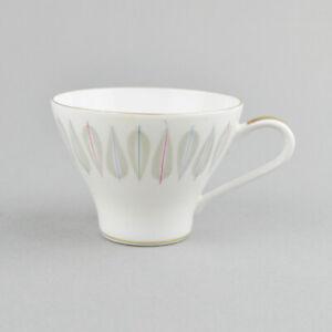 1 x Kaffeetasse - Edelstein Bavaria 20109 - Goldrand - Vintage - bunte Streifen
