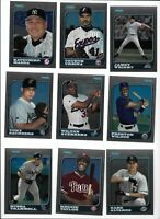 1997 Bowman Chrome Baseball Lot of (42) Different Rookies Mint