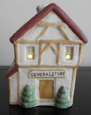 Holiday Vintage Ceramic Lighted General Store Town House