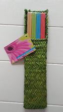 global entertaining CHOP STICKS Weaved Case Multi Colors Set of 4