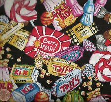 70s candy retro food Timeless Treasures  fabric