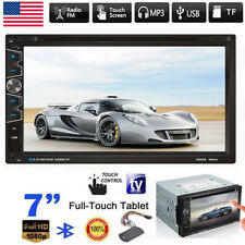 Double DIN 7 Inch In dash Car Stereo Radio CD DVD LCD Player Bluetooth MP3 New