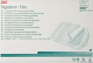 "20 Tegaderm Dressing 3M 1626W 4""x4-3/4"" Transparent Film Frame Style 20 each"