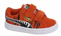 Puma Suede Chemical 2 Straps Kids Orange Trainers Shoes 356000 01 P3