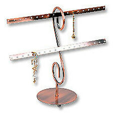 WIRE EARRING COPPER DISPLAY STAND COUNTERTOP 16 PAIR