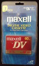 1 New Sealed Maxell Mini DV Blank Tape Digital Video Cassette 60 Minutes SP
