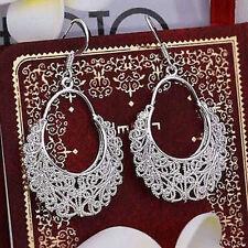 Waggle Dangle Drop Hook Earrings Hot Winsome 925 Silver Women's Hollow