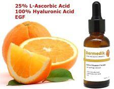 25% VITAMIN C L-ASCORBIC ACID + 100% HYALURONIC ACID + EGF SERUM COLLAGEN BOOST